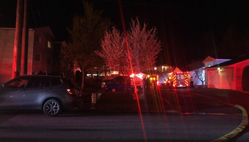 Four people injured in fire at Regal Heights apartments on South Hill
