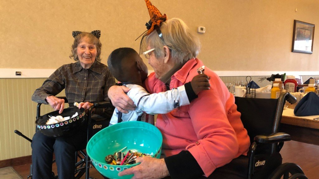 'It just makes our life': Kids trick-or-treat at Spokane Valley senior center