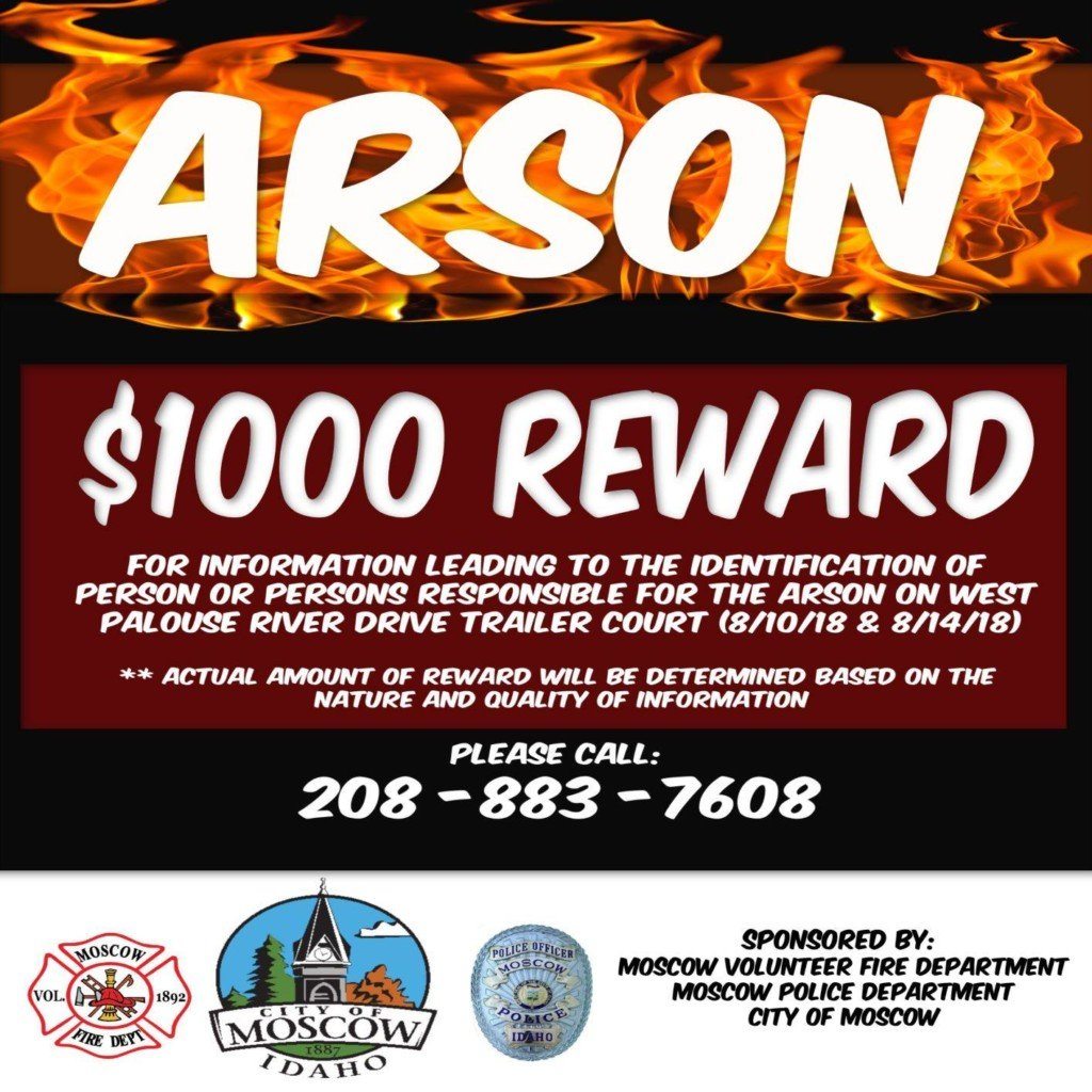 Reward being offered in suspected arson case