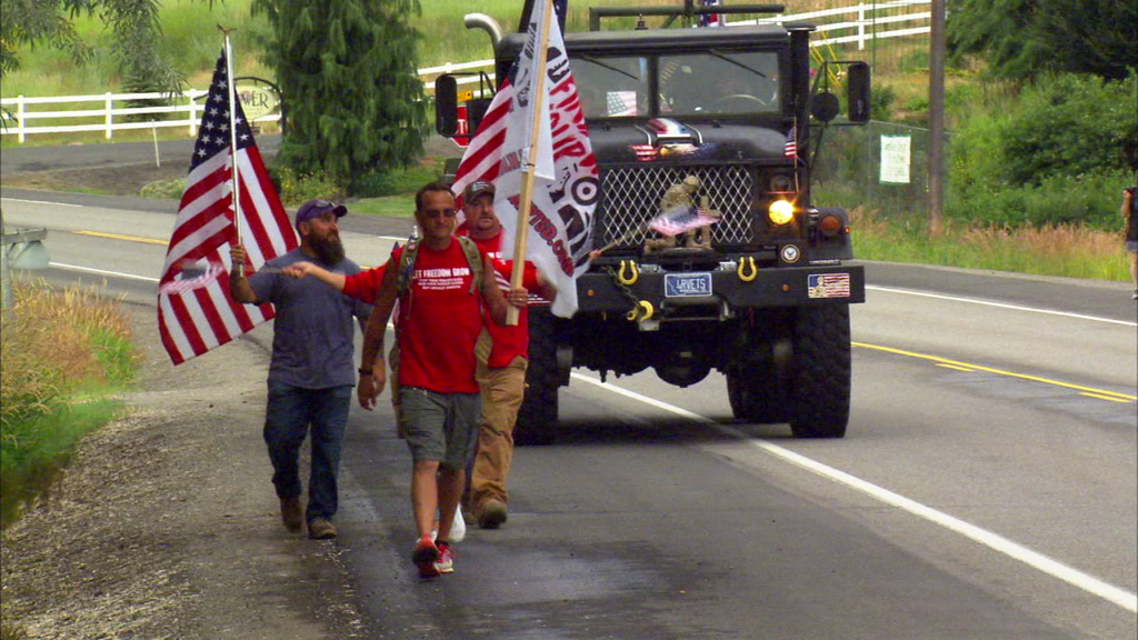 Walking away from PTSD: Local veteran's 500 mile trek