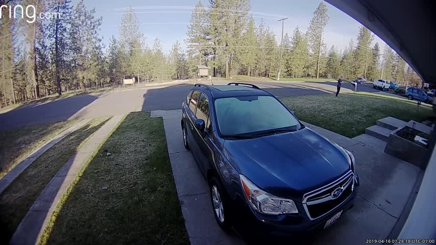 Ring security camera alerts northwest Spokane homeowner to thief stealing truck