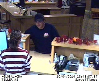 CDA police search for armed bank robber