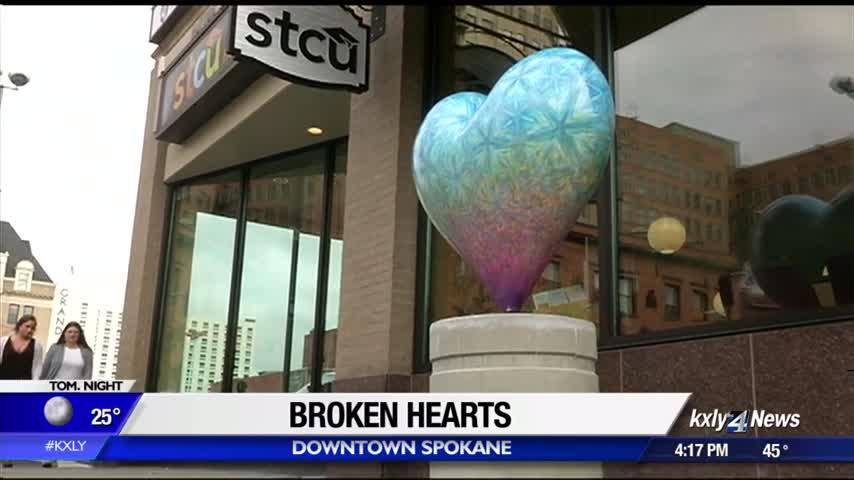 Vandalism on RMHC's downtown heart art causes thousands of dollars in damages