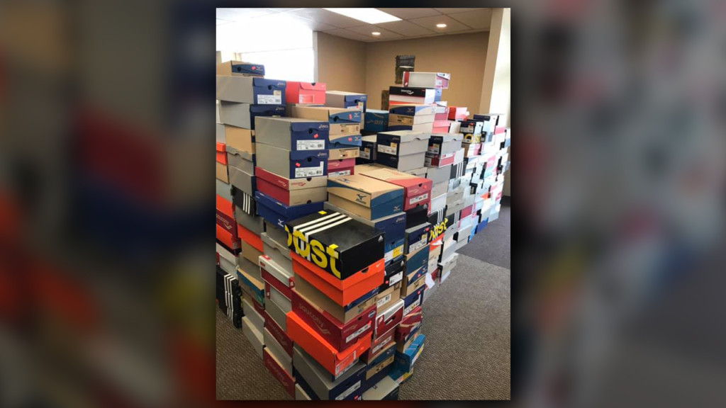 Runners Soul donates hundreds of new shoes to Teen & Kid Closet