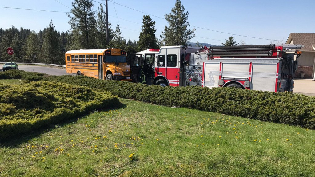 Two children suffer minor injuries in South Hill bus crash
