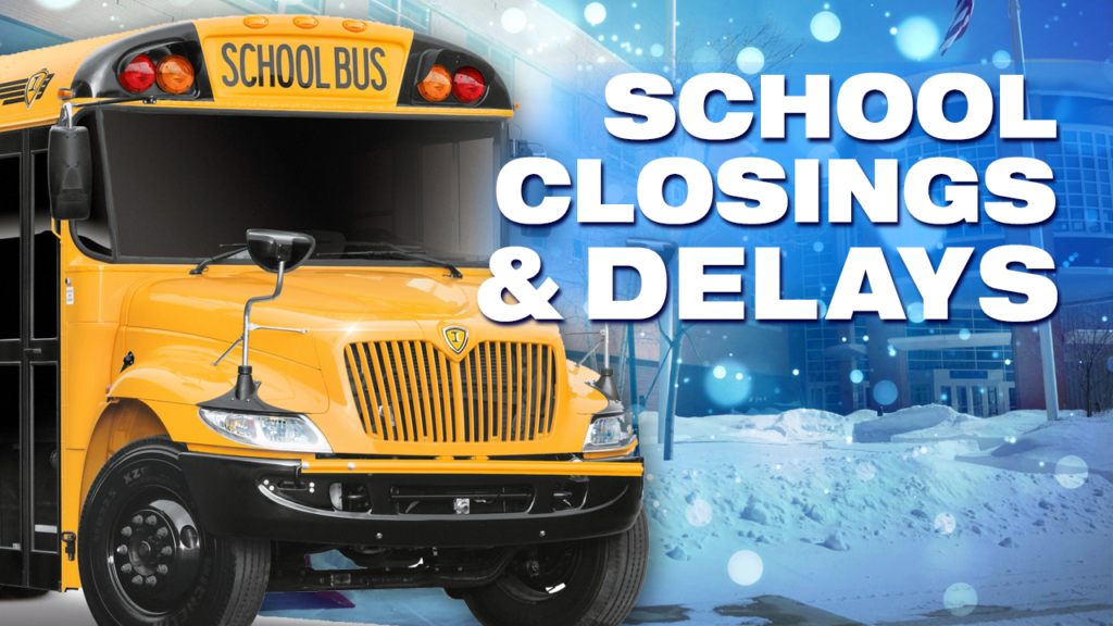 School delays/closures for Wednesday, Feb. 13