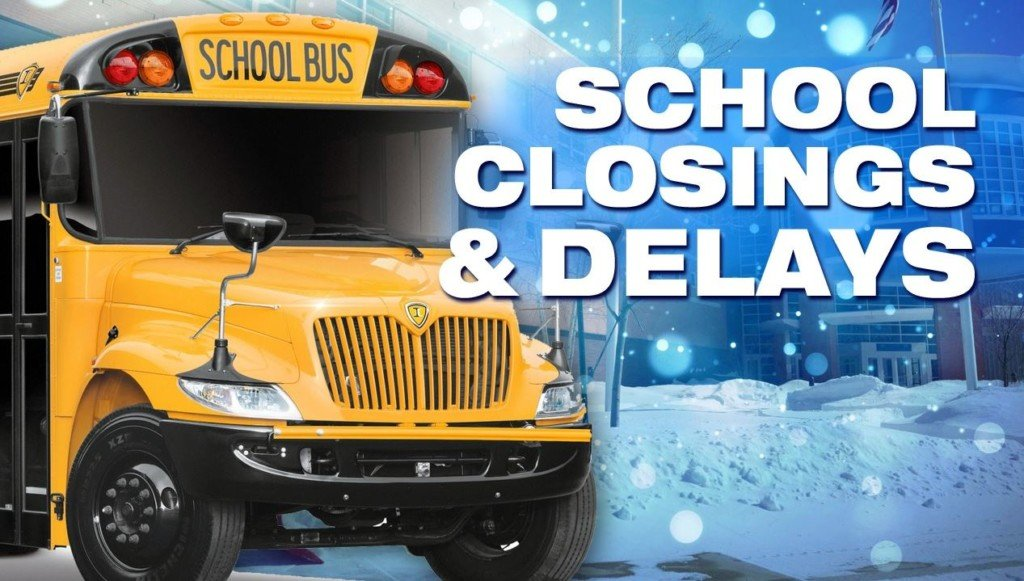 School delays for Thursday, Dec. 12