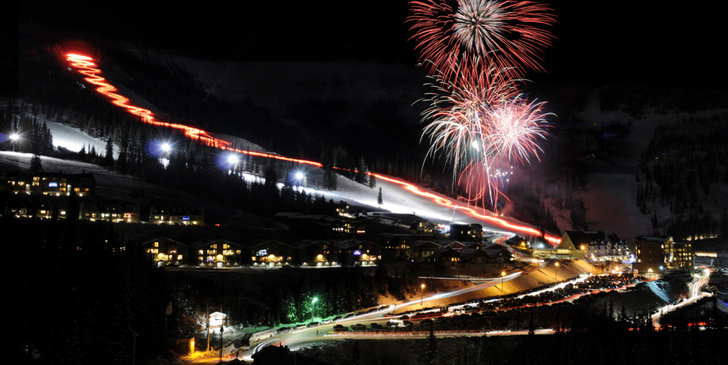 Torchlight parade and firework show at Schweitzer on Saturday
