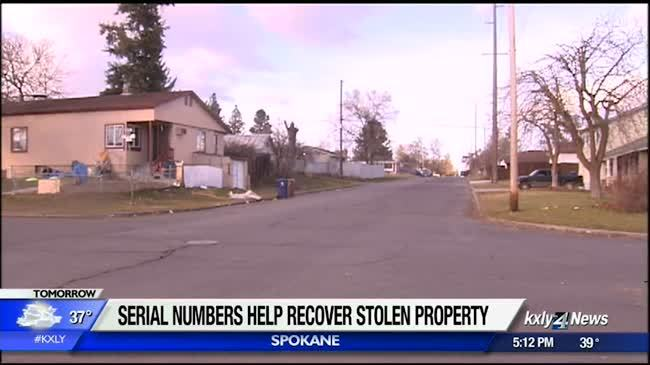 Serial numbers help police recover stolen property