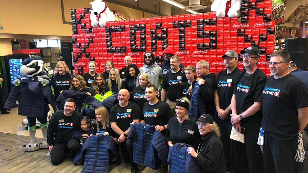 Seahawks make donation to Coats 4 Kids program