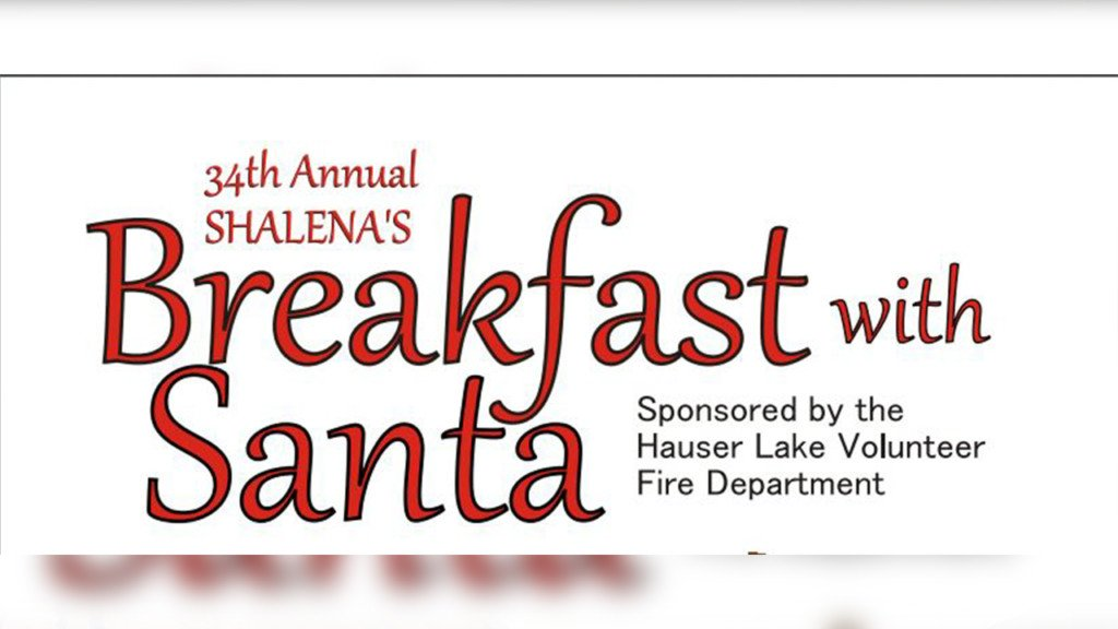 Hauser Lake Fire District to host its annual Shalena's Breakfast with Santa fundraiser