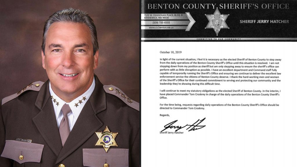 Benton County sheriff stepping away from daily operations following domestic violence allegations