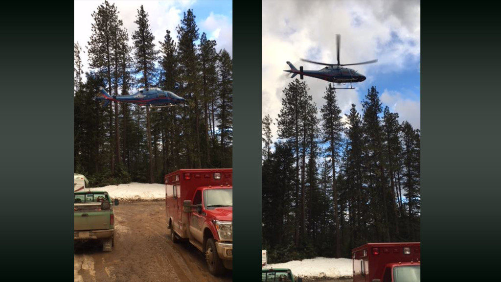 Logger injured, rescued by helicopter