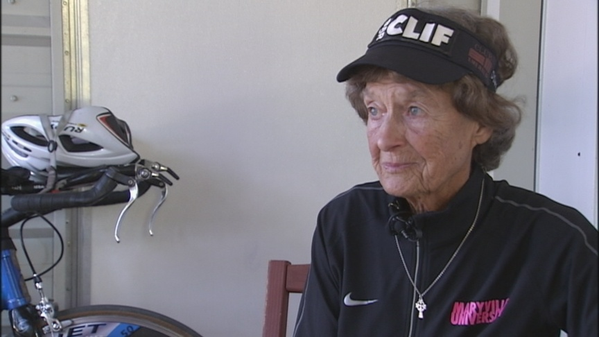 Catholic nun makes Ironman history – again.