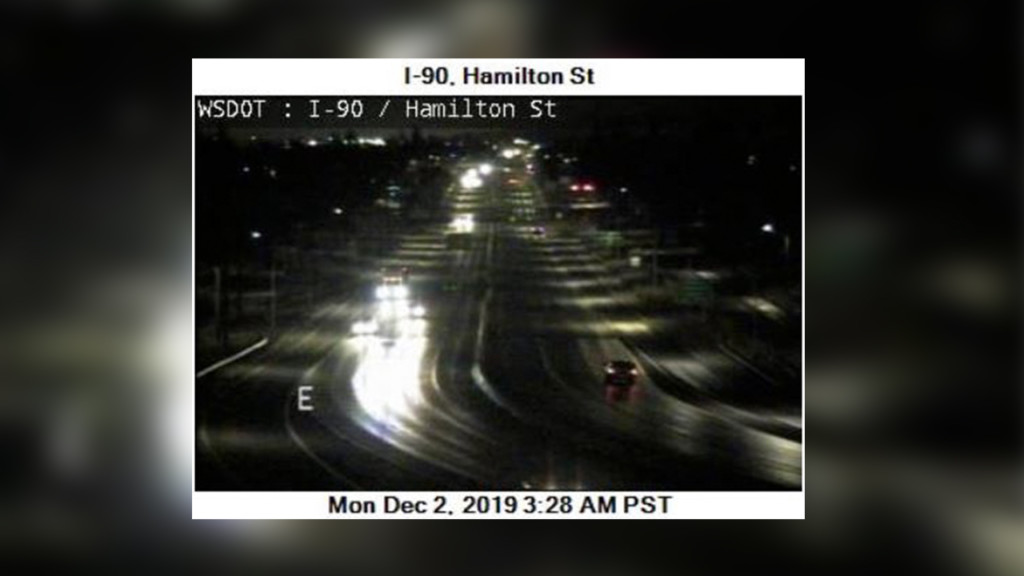 Slick roads around Spokane for the Monday morning commute