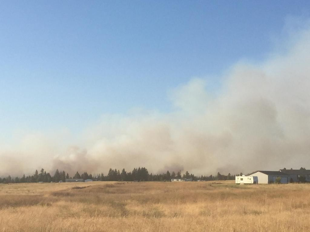 Coulee Hite Fire causes evacuations in Spokane County