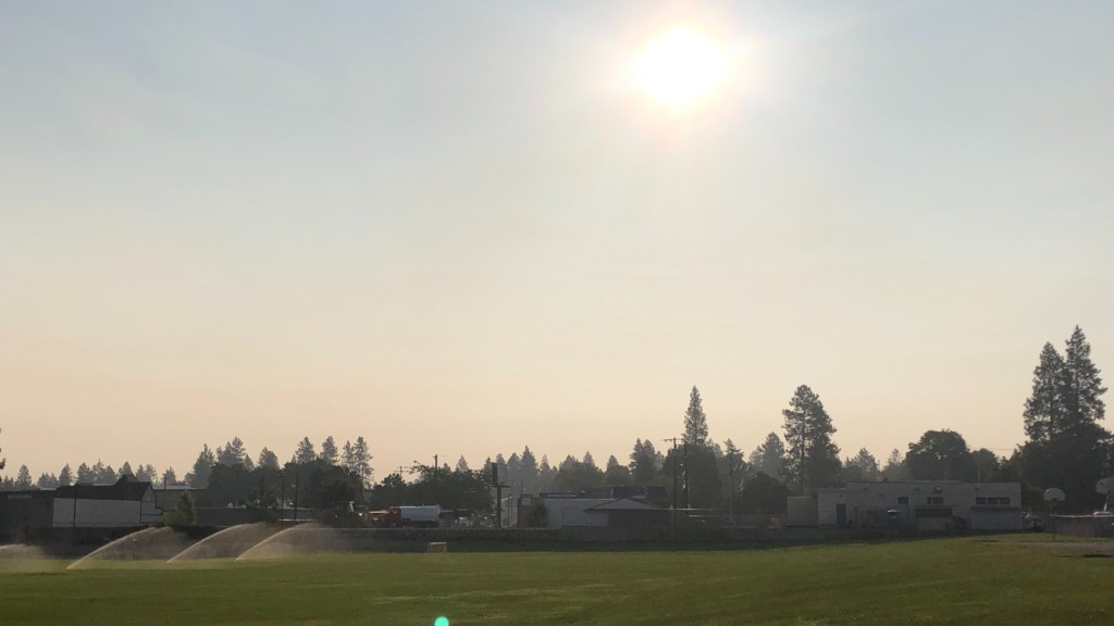 Wildfires create smoky skies over Inland Northwest Sunday