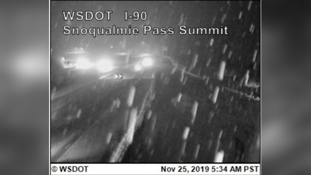 Heading across the state? Prepare for snowy conditions on Snoqualmie Pass
