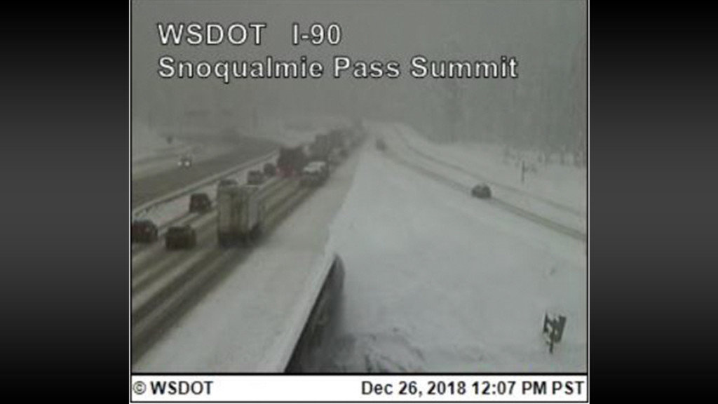 Snowing on Snoqualmie Pass, Stevens Pass