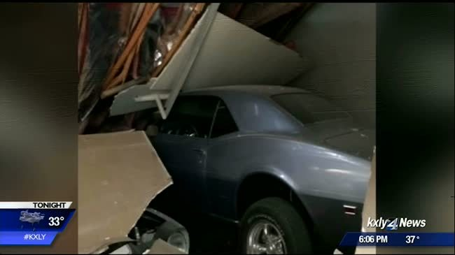 Snow causes roof collapse in North Spokane
