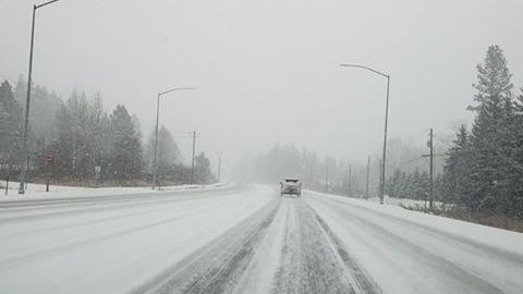 Snow beginning to fall across the Inland Northwest