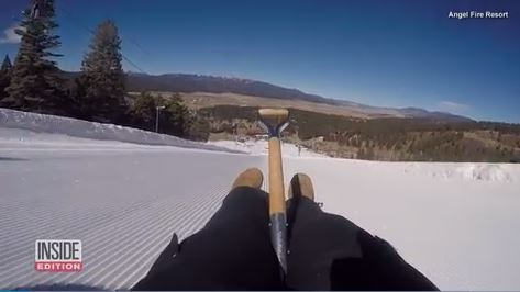 Downhill snow shovel racers hit 60 mph