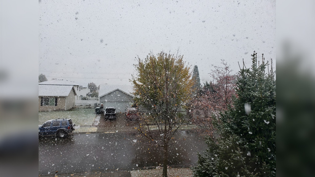 Light snow hits Coeur d'Alene and surrounding areas