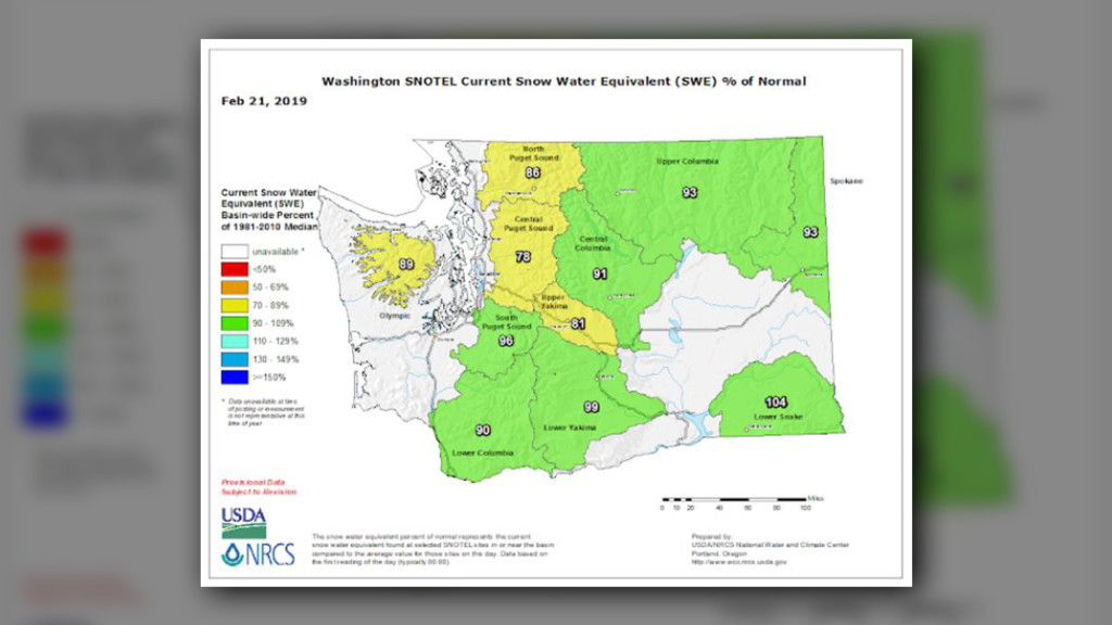 "Seventh-lowest seasonal snowpack reversed by Washington's ""Snowpocalypse"""