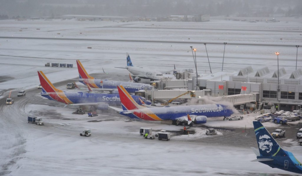 Seattle snow delays, cancels flights leaving Spokane