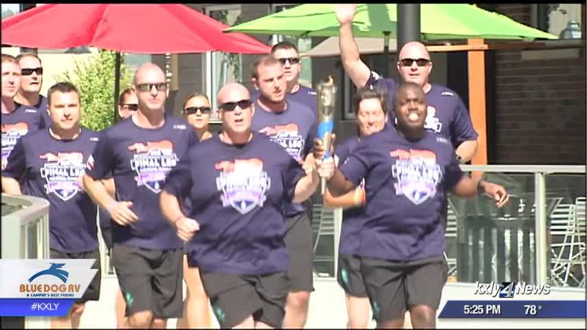 Special Olympic athletes bring 'Flame of Hope' to Spokane