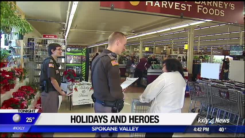 Spokane County Sheriff's Office holds 'Holidays and Heroes' drive