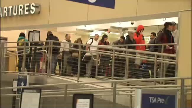 Spokane International Airport busy with holiday travelers