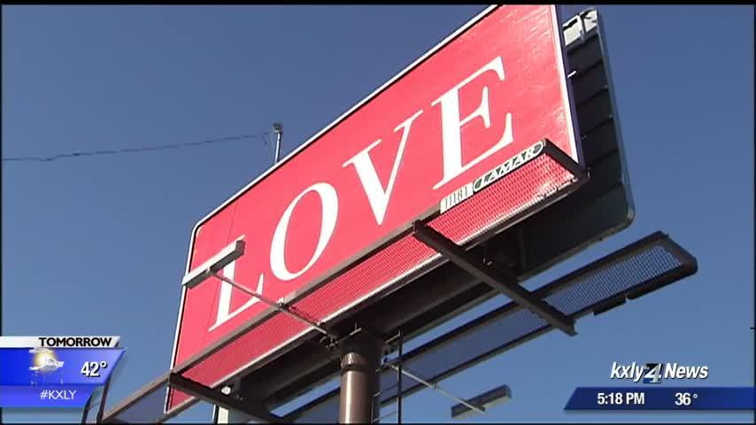 Spokane man creates billboards to spread love across the country