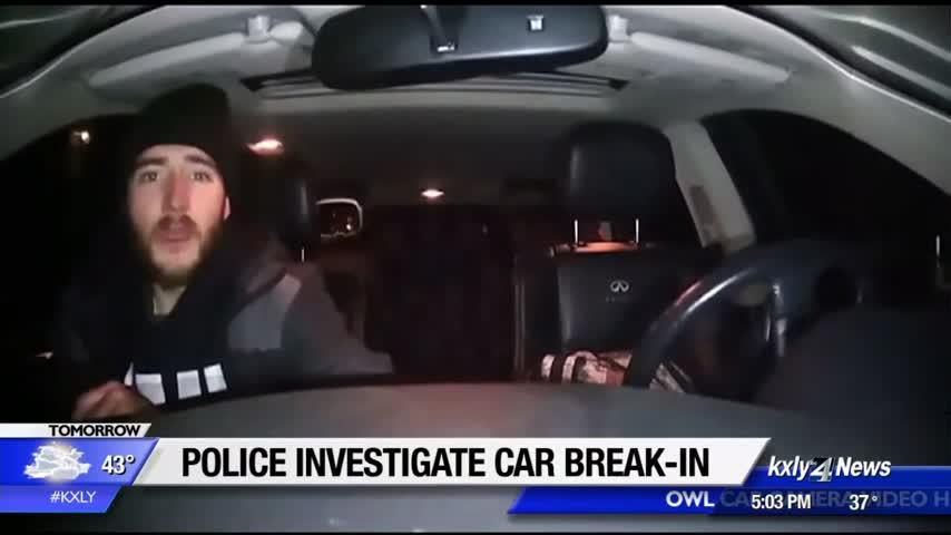 Man captured on video camera breaking into car arrested, charged with vehicle prowling