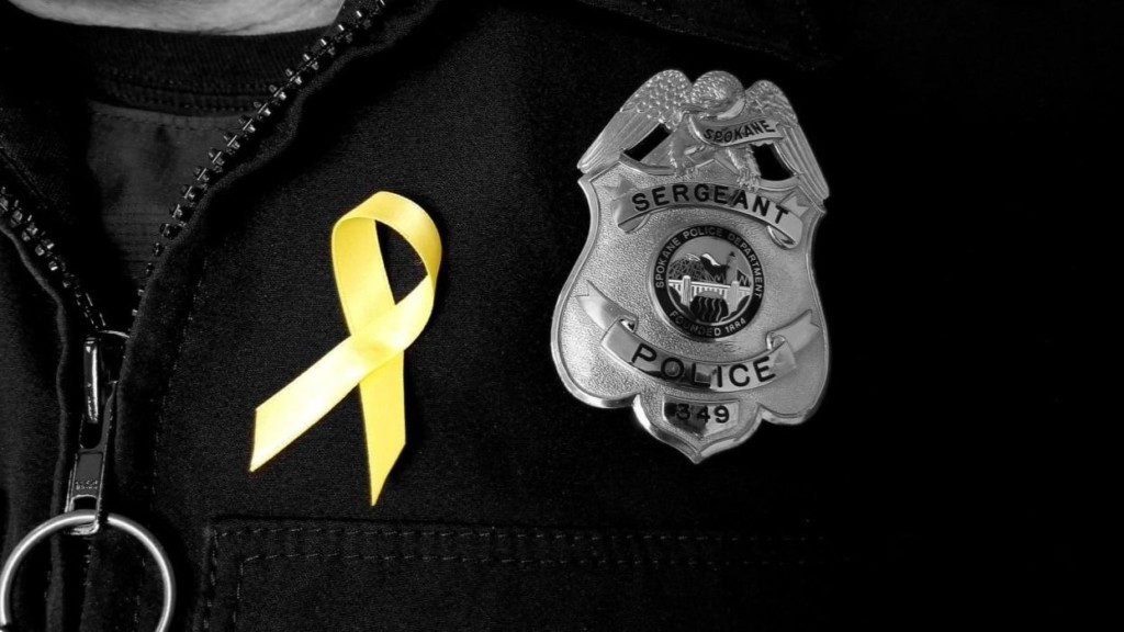 Spokane Police officers raising money for Community Cancer Fund during 'No Shave November'