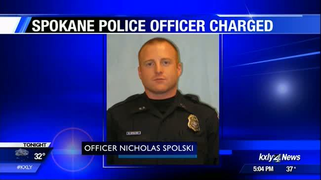 Spokane Police Officer appears in court on domestic violence charge