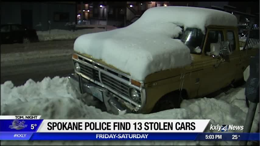 Spokane police recover 13 stolen vehicles this weekend