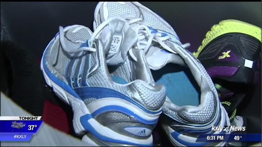 Spokane runner starts shoe drive for low-income kids