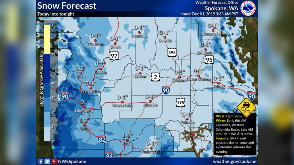 NWS: Light snowfall expected Sunday, more coming this week