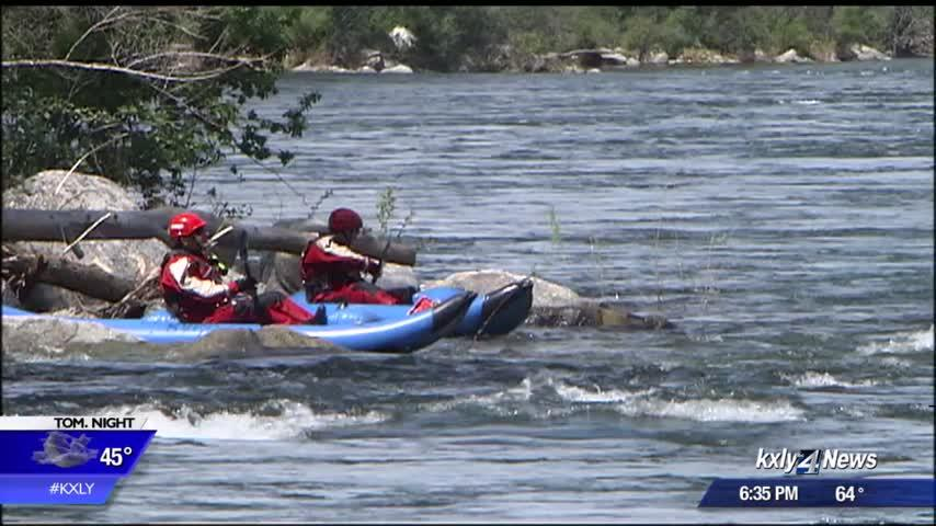 Spokane Valley Firefighters train for water rescues