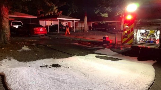 Spokane Valley shed completely lost to early morning fire