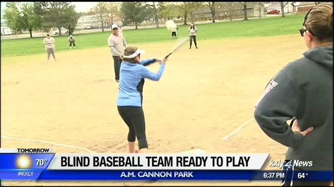 Sports for the Blind ready to play ball