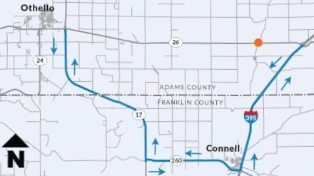 Detour for SR 26 bridge repair resumes