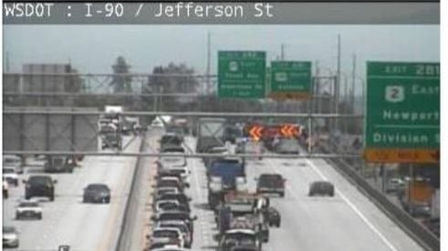 Division St. off-ramp on eastbound I-90 now clear