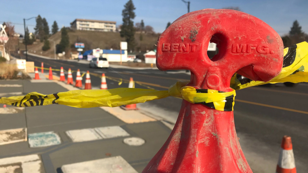 Newly built Spokane bus stops under construction again, here's why