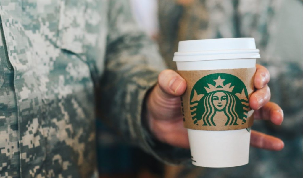 Starbucks 'Serving Those Who Serve' today with FREE coffee for veterans