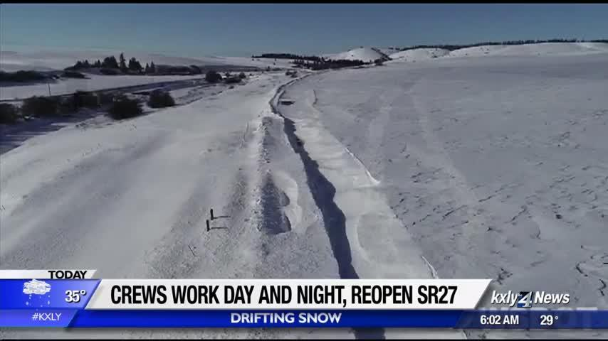 SR27 now back open after extensive work to clear snow drifts