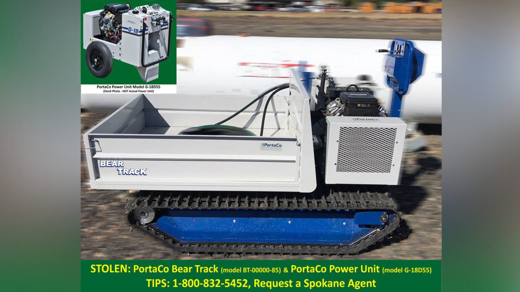 BNSF Railway Police need your help locating a stolen power unit