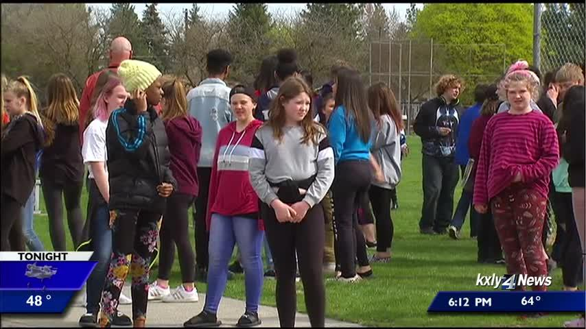 Students hold walkouts at Garry and Shaw Middle Schools