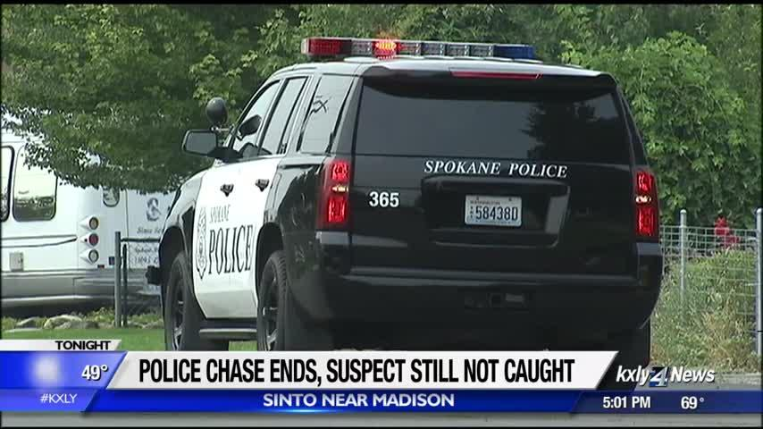 Suspect on the loose following police pursuit
